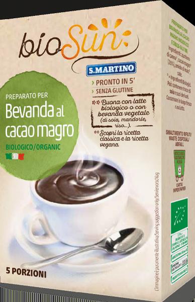 Bevanda al Cacao magro Biologico