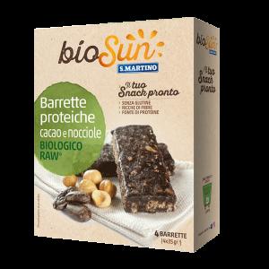 Barrette proteiche Cacao e Nocciole Biologiche