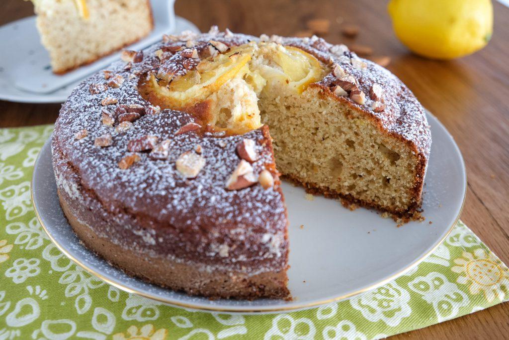 Torta ricotta, mandorle e limone