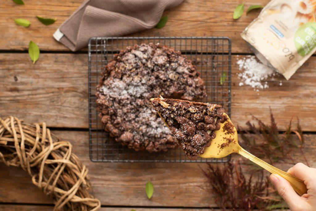 Crostata senza glutine al cacao con ricotta e amarene