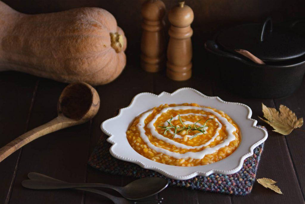 Risotto alla zucca con salsa al gorgonzola