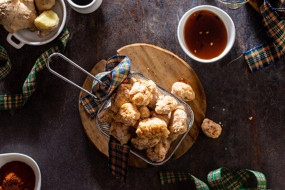 Pop corn di pollo con salsa agrodolce